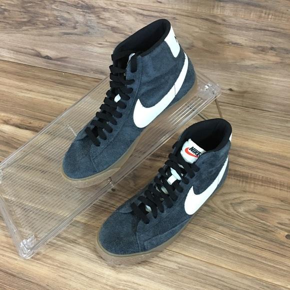 huge discount bedd1 278d0 Nike Shoes | Unisex Blazer Mid Suede Vintage Black Gum New | Poshmark